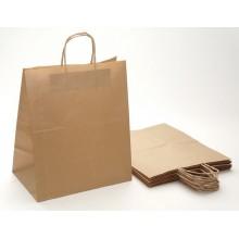 Пакет крафт с кручеными ручками 32х20х37см бумажный 70мкм