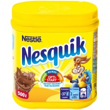 Какао-порошок . Nesquik с витаминами 500г банка пластик /10