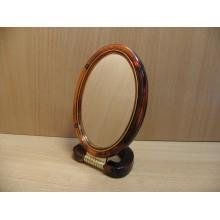 Зеркало двухсторонее настольное оправа пластик 14х10см овальное арт.430-5,Е064