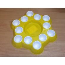 Подставка д/яиц на 12шт. пластик d30см Пасхальная Бриг №1,№2