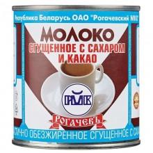 Молоко сгущеное Рогачев с какао БЗМЖ 380г банка металл /30