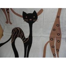 Полотенце гладкое хлопок 75х140см Кошки двустороннее без упаковки .
