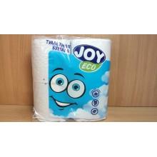 Бумага туалетная JOYeco 4шт. 2-слойная белая (12) .