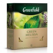 Чай зеленый Greenfield Green Melissa 100 пакетиков в коробке /9