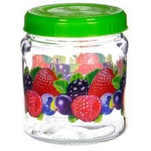 Банка для продуктов 0,45л Ягодный микс с пластиковой крышкой стекло без упаковки арт.122-13003 Хозгрупп