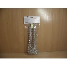 Бусы Ромбики серебро пластик 2,7м в пакете арт.AR2/9-F03A/S