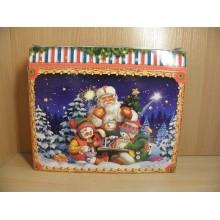 Коробка новогодняя д/подарка 1400г Праздник картон арт.ПДУ32375 (100)