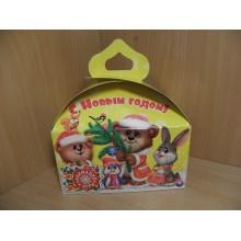 Коробка новогодняя для подарка 1000г Сундучок Милашки картон арт.ПДУ50143