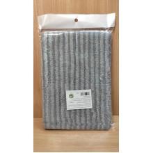 Блок сменный д/плоской швабры . микрофибра серый 46х16см арт.HY0138