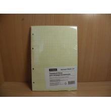 Блок сменный для тетрадей А5 80л. клетка . . желтый ArtSpace