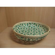 Миска плетёная бамбук d22х6см зелёная без упаковки