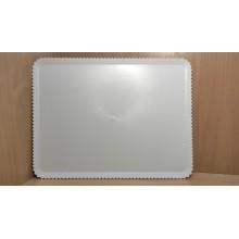 Поднос с ажурной каймой 550х420мм белый пластик одноразовый 36268(13)