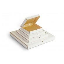 Коробка для пиццы 330х330х40 мм гофрокартон белая