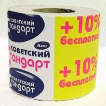 Бумага туалетная 54 мягкая/Советский стандарт 1шт. 1-слойная серая втулка (72)