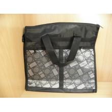 Сумка хозяйственная 35х35х11см на молнии черная с карманами ткань искуственная Беларусь Салта