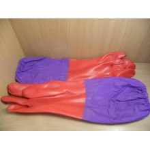 Перчатки хозяйственные латекс с манжетами . . (1)