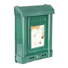 Ящик почтовый с замком .см пластик цвет зеленый арт.М6435