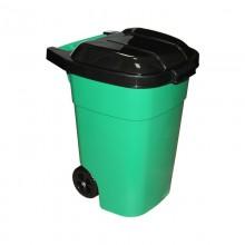 Бак с крышкой 65л прямоугольный на колёсах пластик арт.М4663 код73883 Висс