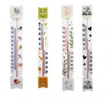 Термометр уличный для окон ПВХ пластик плоский на липучке на блистере арт.ТБ-3М1 Конвент