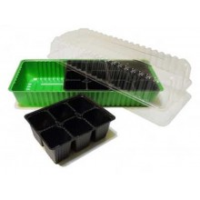 Минипарник пластик +3 кассеты на 6 ячеек арт.Мп 3