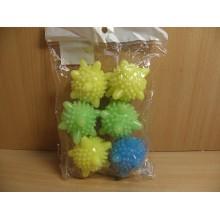 Шарики для стирки и сушки 6шт. 6см . пластик в пакете арт.МС-1804292 Конвент
