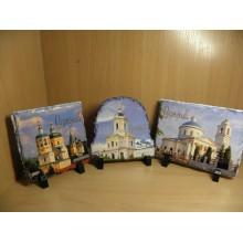 Картина Серпухов на камне в ассортименте в коробке Димон