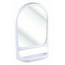 Полка для ванной . с зеркалом навесная Альтернатива пластик цвет белый литая арт.М3130