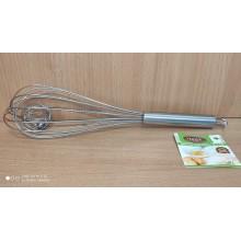 Венчик нержавейка ручка металл с шариком Vertex арт.VS-1505
