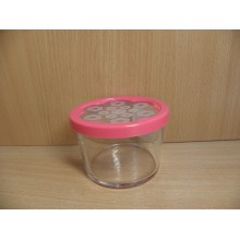 Банка для продуктов 0,22л Бейзик Цветок с пластиковой крышкой стекло без упаковки арт.42230SLB Эксклюзив