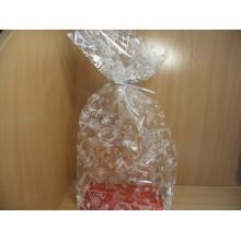Пакет прозрачный жесткое дно 50х22х14см подарочный Праздник
