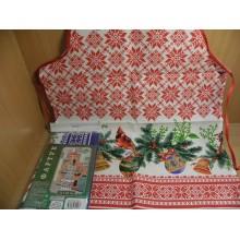 Фартук Новогодние узоры хлопок 72х52см в пакете арт.ТП2-111 Мультидом