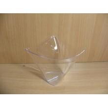Фуршетная форма чашка Кимоно 0,3л прозрачная ПС одноразовая арт.1052 (6/16уп.)