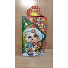 Коробка новогодняя для подарка 1500г Символ года Коровка картон ПДУ32746 (150)
