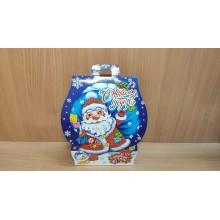 Коробка новогодняя для подарка 600г Домик Снег идет картон арт.ПДУ33005 (250)