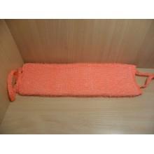 Мочалка для тела Вязаная с поролоном 40см синтетика длинная с ручками без упаковки