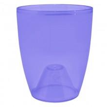Кашпо 120мм высота 140мм без поддона пластик Орхидея 1л фиолетовое арт.113093 ДомПластика