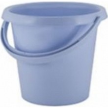 Ведро без крышки 10л круглое Ampari туманно-голубой пластик арт.РТ9060ТГ ДомПластика