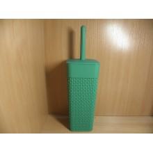 Ёрш унитазный Oslo бархатно-зеленый подставка пластик ручка пластик длинная арт.РТ1356БЗ ДомПластика