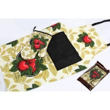 Набор рукавица+фартук Фрукты хлопок в пакете арт.136-022 Ленарди
