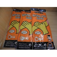 Перчатки хозяйственные латекс SBS-1 Gloves L (8.5-9) (12)