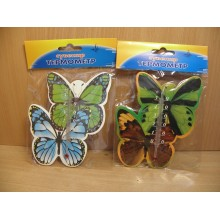 Термометр комнатный картон магнит Бабочки на блистере ЮВ