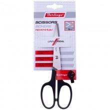 Ножницы универсальные 160мм остроконечные ручки пластик Berlingo Scissors на блистере арт.S7005 Рельеф