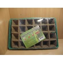 Кассета для рассады торф 24 ячейки с поддоном Умный огород