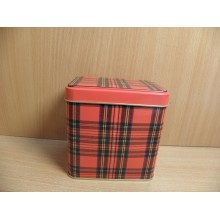 Банка 0,58л Шотландка 67х98х98мм прямоугольная жесть без упаковки арт.67П98 Инвест