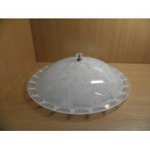 Блюдо для блинов стекло цветное Кружево 17 белое d265мм круглое в коробке арт.165419И