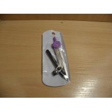 Циркуль длина 120мм с карандашом в пластиковом пенале арт.260692