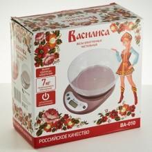 Весы кухонные чашечные электроника до 7кг Василиса в коробке арт.ВА-010 Авангард