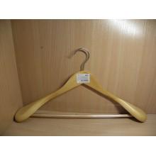 Плечики для верхней одежды дерево Рыжий кот (костюмные) крючок вращающийся арт.007767 Союзпластик