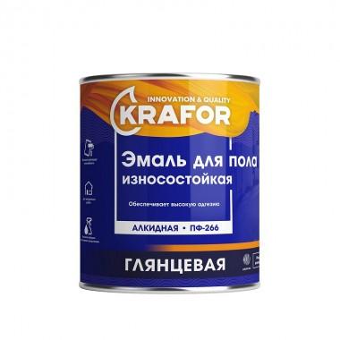 Эмаль ПФ-266 алкидная для пола красно-коричневая глянцевая 1,9кг Krafor