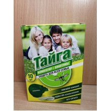 Средство от комаров фумигатор Тайга +пластины 10шт. в коробке